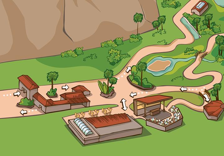 Mapa, detalle de la entrada.
