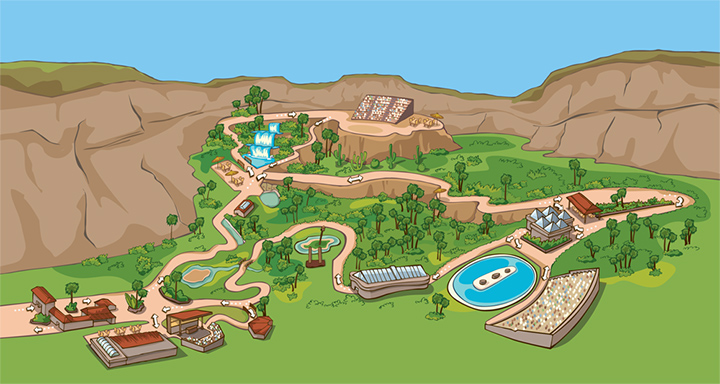 Vista general del mapa del parque