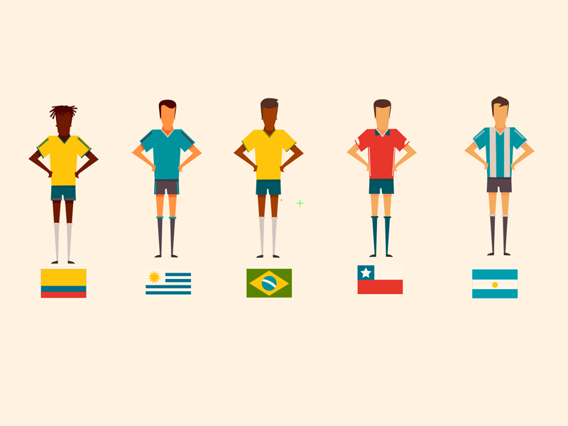 Illustration soccer players